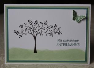 Trauerkarte Stampin Up
