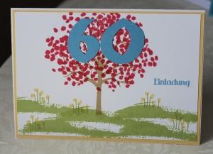 Geburtstag Einladung 60 Stampin Up Baum der Freundschaft