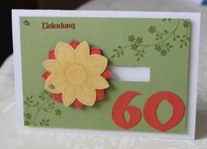Geburtstag Einladung 60 Stampin Up