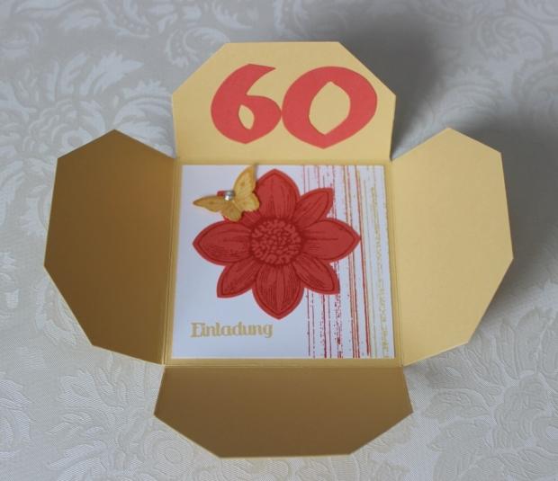 Einladung 60. Geburtstag Stampin Up