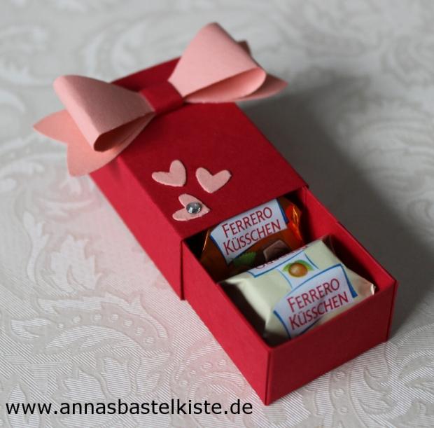 Gastgeschenk Ferrero-Küsschen Verpackung Stampin Up