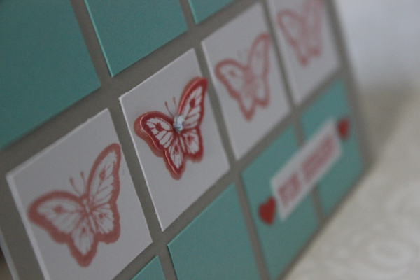 Karte Muttertag Schmetterling Stampin Up