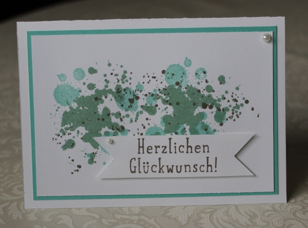 Glückwunschkarte Stampin Up Incolors