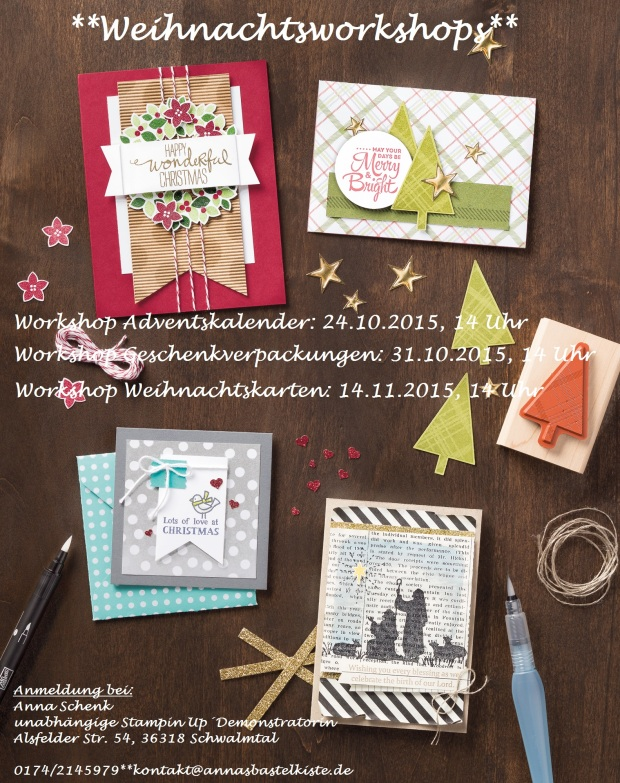 Workshop Weihnachten Stampin Up