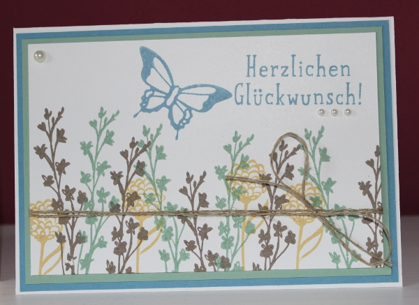 Stampin Up Natures Perfection Karte Blumen Garten