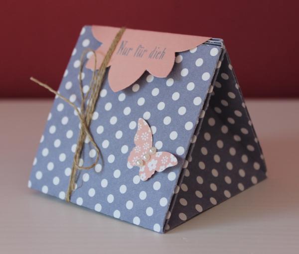 Stampin Up Dreiecksbox Verpackung