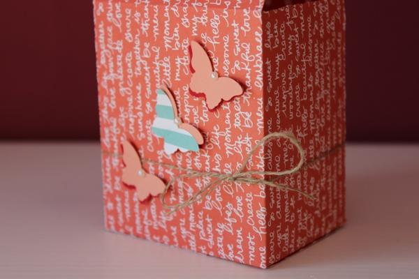 Stampin Up Box mit Tragegriffen Gable Box