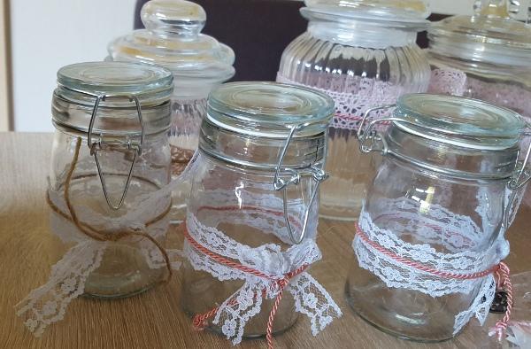 Candybar Gläser Vintage Hochzeit Stampin Up