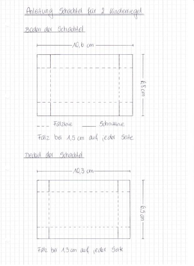 Anleitung Schachtel für 2 Kinderriegel Stampin Up