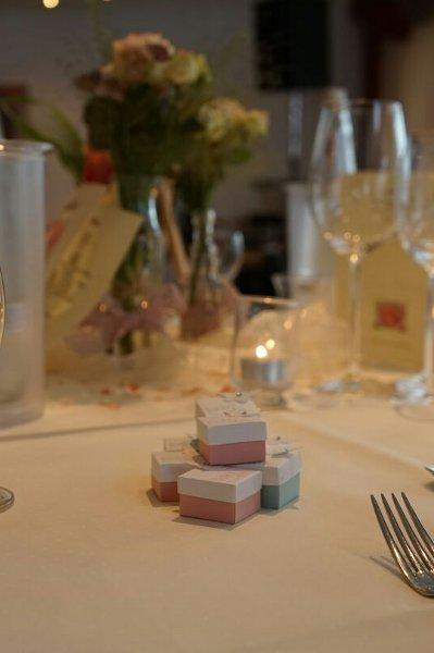Dekoration Hochzeit Vintage Gastgeschenk Mini Ferrero Küsschen Schachtel Stampin Up