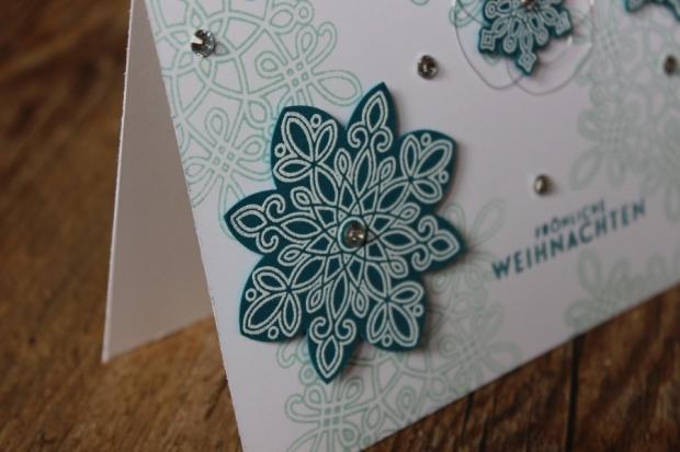 Weihnachtskarte Weihnachten Christmas Stampin Up Flockenzauber