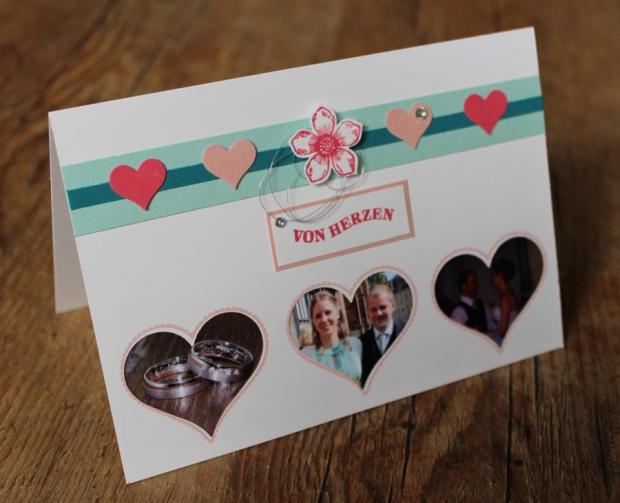 Dankeskarte Hochzeit Stampin Up