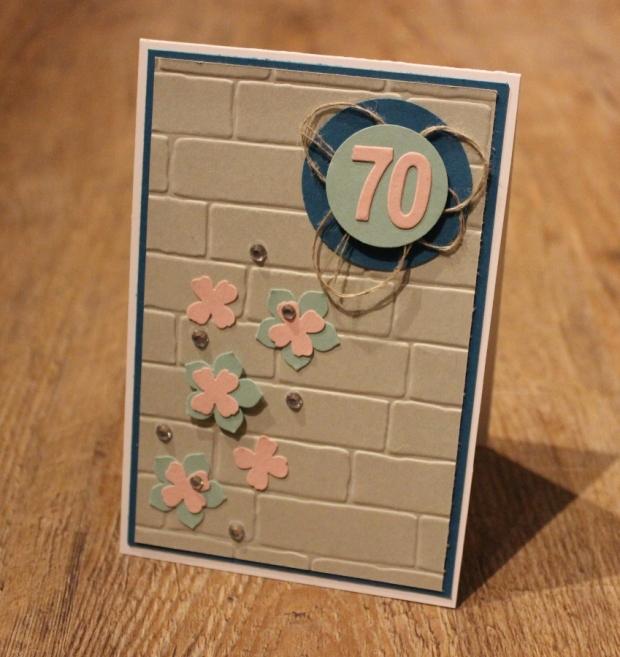 Karte 70. Geburtstag Stampin Up