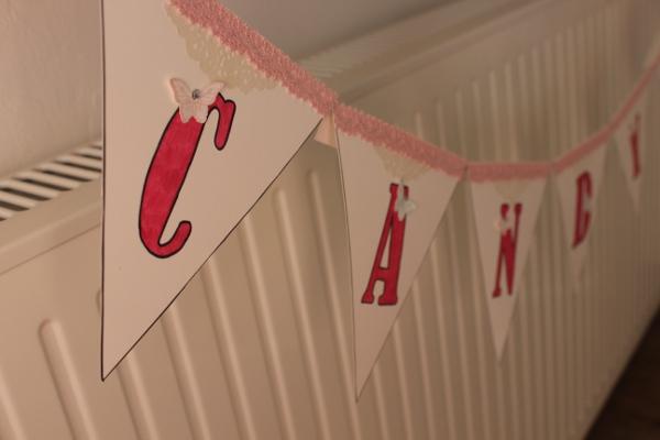 Candybar Girlande Hochzeit Vintage Stampin Up