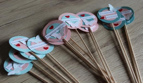 Candybar Vintage Beschriftung Süßigkeiten Stecker Stampin Up