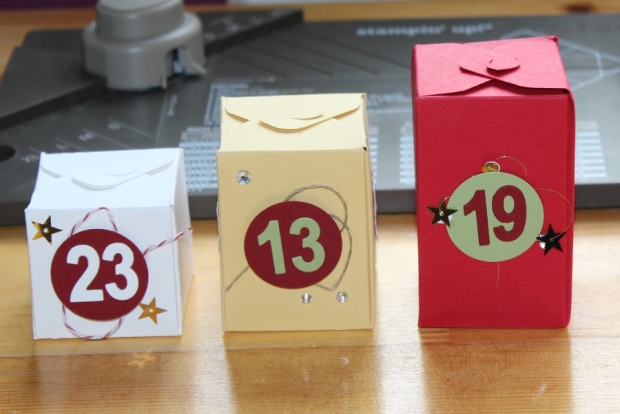 Weihnachtsworkshop Adventskalender Stampin Up