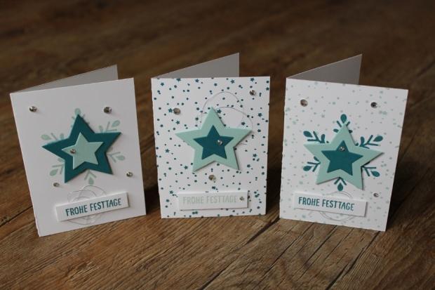 Workshop Weihnachtskarten Stampin Up Gastgeschenk kleine Grußkarte