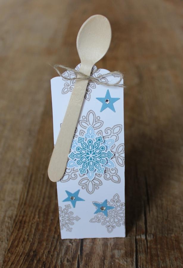 Geschenk Set Weihnachten mini Nutella Verpackung Stampin Up