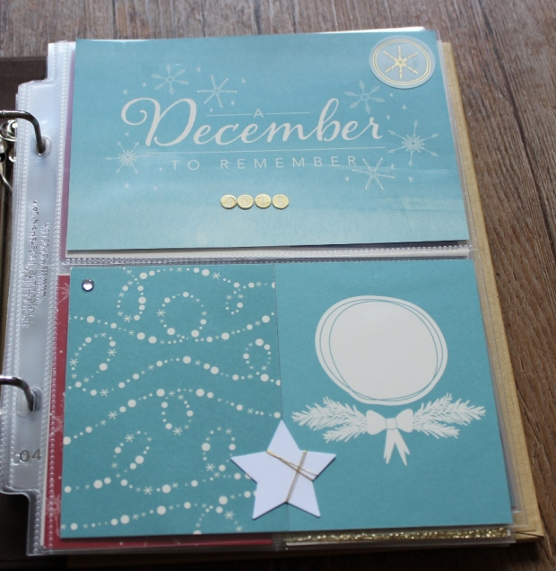 December Daily Project Life Stampin Up