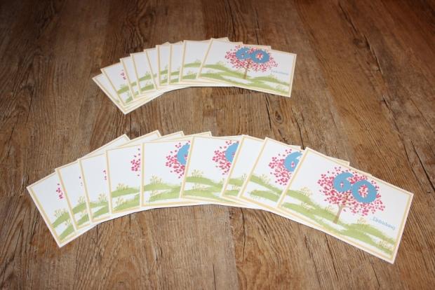 Stampin Up Einladung 60. Geburtstag Auftragsarbeit Wunschkarten