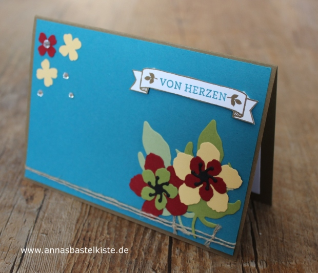 Männerkarte Geburtstag Stampin Up Botanical Builder
