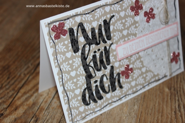 Grußkarte Glückwunschkarte Stampin Up Blumen für dich