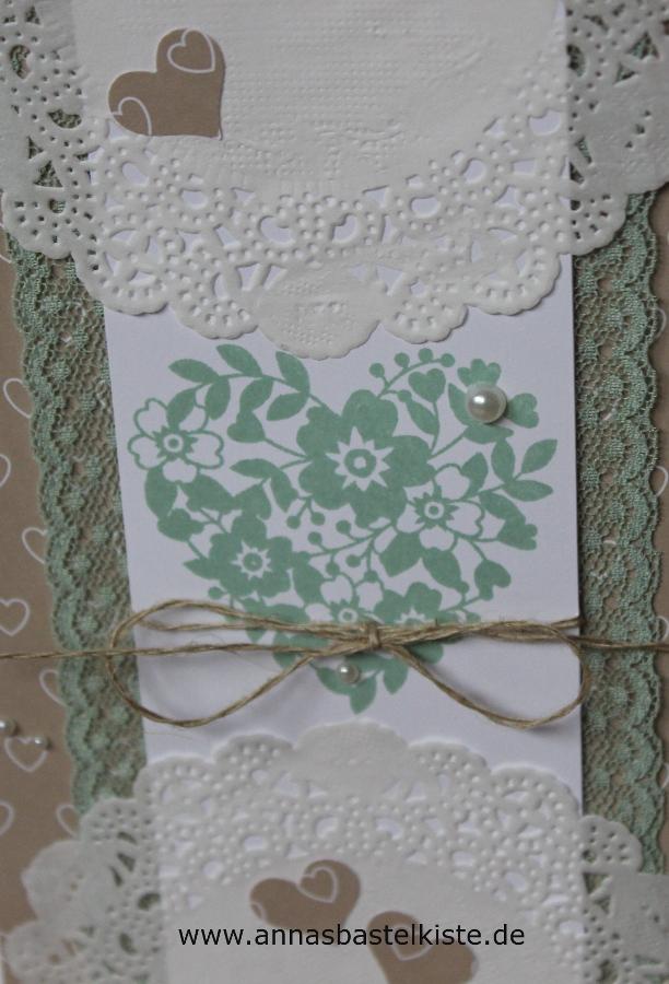 Hochzeitskarte, Grußkarte, Glückwunschkarte Stampin Up Spitze Herzen