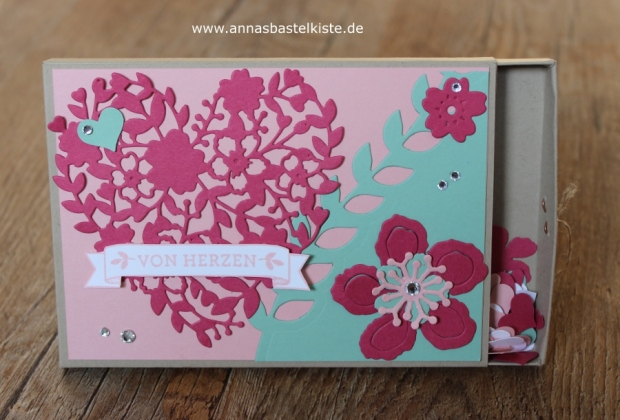 Ziehschachtel Geld Gutschein Valentinstag Stampin Up