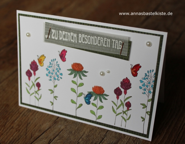 Karte Flowering Fields SAB Sale A Bration 2016 Stampin Up