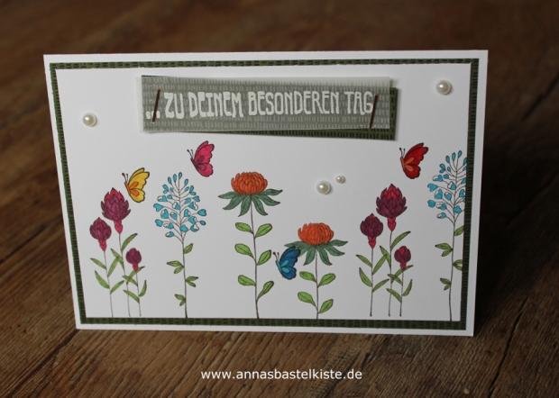 Karte Flowering Fields SAB Sale A Bration 2016 Stampin Up