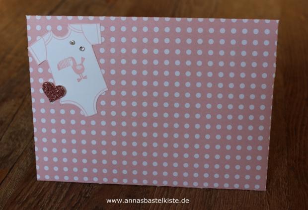Karte Geburt Zwillinge Mädchen Umschlag Stampin Up