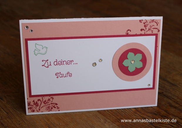 Karte Taufe Christening Stampin Up