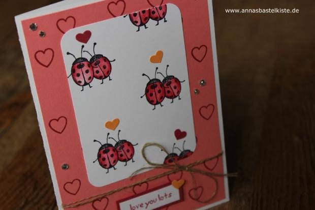 Love you lots Gastgeberinnen-Set Stampin Up Karte