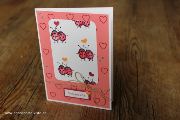 Love you lots Gastgeberinnen-Set Stampin Up Karte