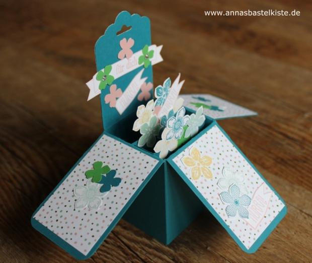 card in a box Pop up Box Schachtelkarte Geburtstag Stampin Up