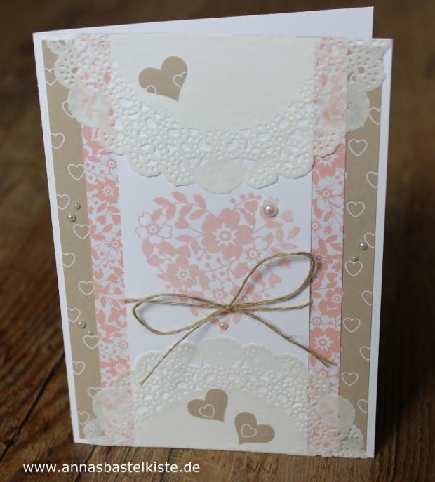 Karte Hochzeit Vintage Kirschblüte Stampin Up