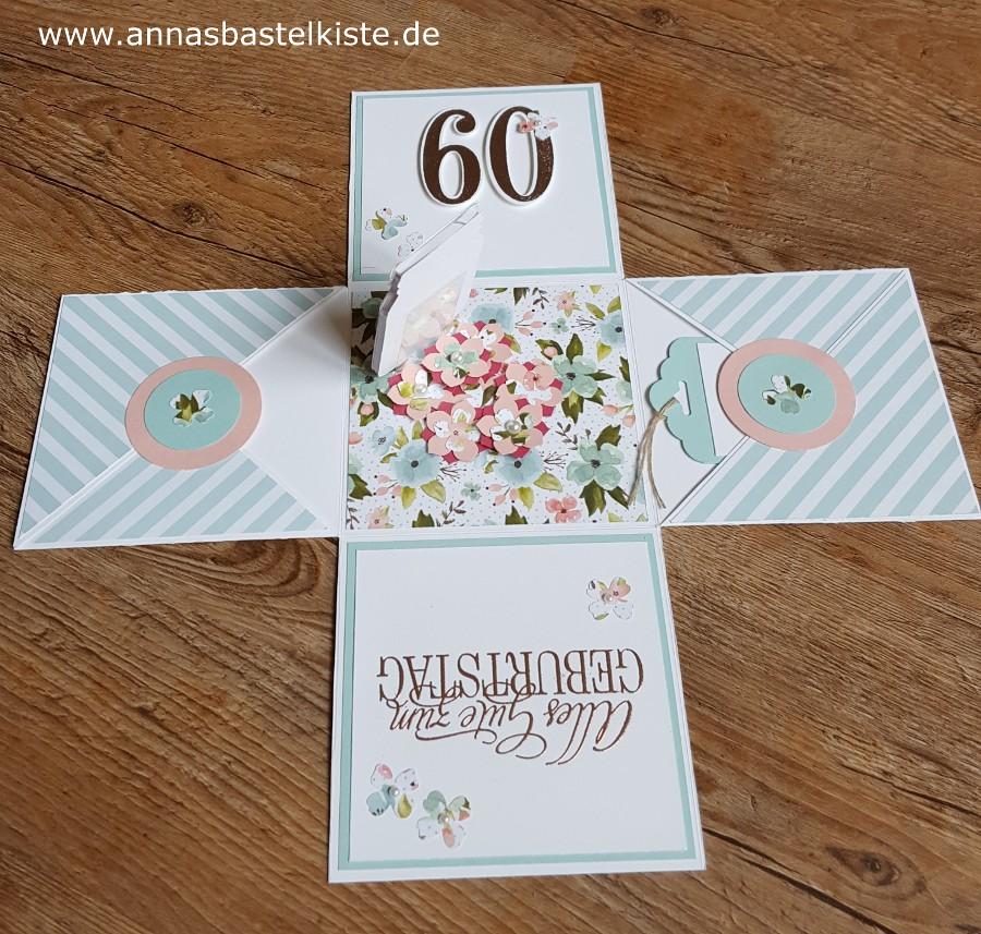 Explosionsbox Zum 60 Geburtstag Annasbastelkiste