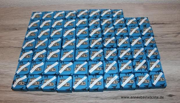 mini Ferrero Küsschen Schachtel Gastgeschenk Hochzeit Around the world gift box wedding Stampin Up AnnasBastelkiste