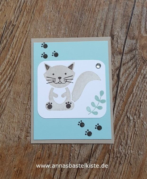 Grußkarte Stampin´ Up! Foxy Friends