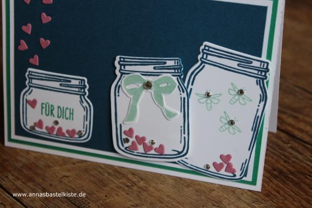 Karte zum Geburtstag Glasklare Grüße Stampin Up