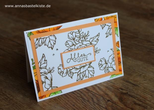 Karte zum Geburtstag birthday card Geburtstagsblumen Stampin´ Up!