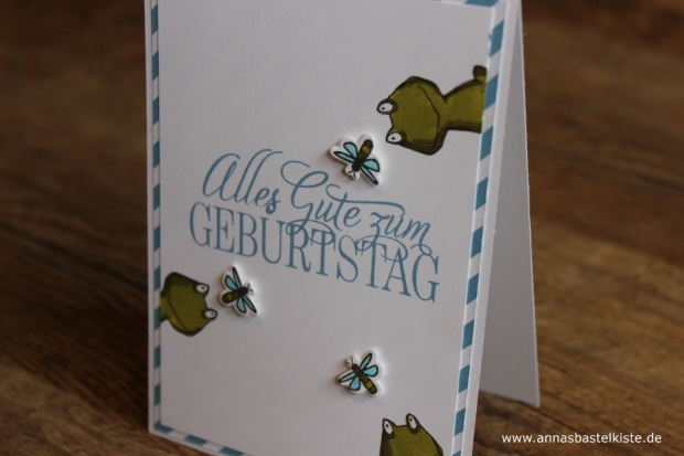 Männerkarte zum 55. Geburtstag Stampin´ Up! Glasklare Grüße Love you lots