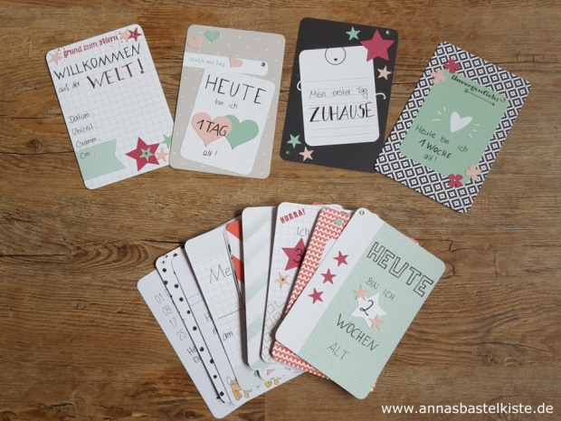 Meilensteinkarten Milestone Cards Baby Project Life Stampin Up