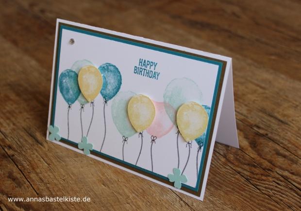 Karte zum Geburtstag birthday card Stampin Up
