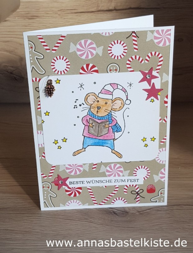 Weihnachtskarte Stampin Up Festtagsmäuse Weihnachten Christmas