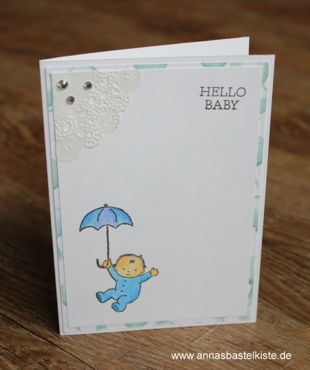 Babykarte Stampin Up Moon Baby