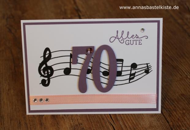 Glückwunschkarte Geburtstag birthday Musik Stampin Up