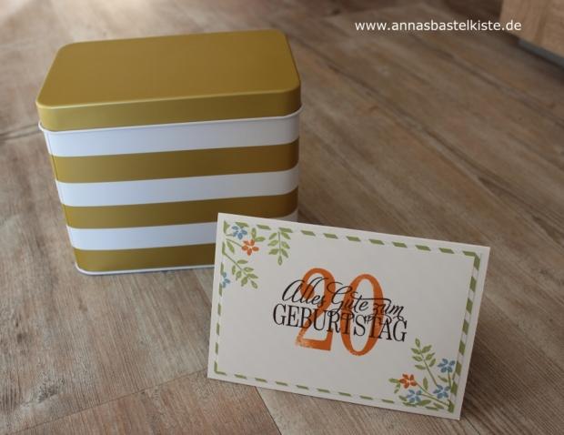Karte zum 20. Geburtstag birthday Gutschein Sale-a-bration Stampin Up