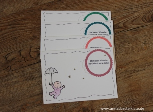 Zum Nachwuchs zur Geburt baby card Stampin Up