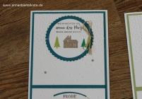 Weihnachtskarte Weihnachten daheim christmas card Stampin Up